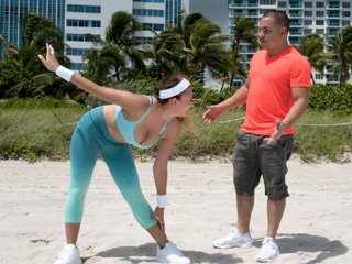 Hot bodacious sexy chick Ivy Rose gets fucked by her freelance trainer friend after doing some nice physical workout.