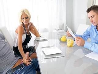 Older Mummy Stepmom Entices Her Son During Chores