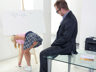 Her tits alone were enough to make Veronika's tricky old teacher want to fuck her brains out